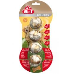 8 in 1 - 8 in 1 Delights Ball Tavuklu Köpek Ödülü Small