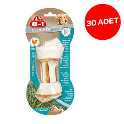 8in1 Delight Prodental Tavuk Dolgulu Burgu Kemik XS 30'lu Paket - Thumbnail
