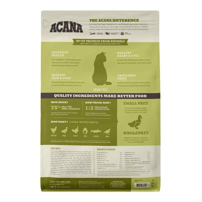 Acana Grasslands Ördekli ve Tavuklu Tahılsız Kedi Maması 1,8 KG