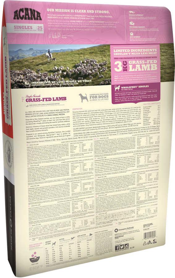 Acana Grass Lamb Kuzulu Köpek Maması 17 KG
