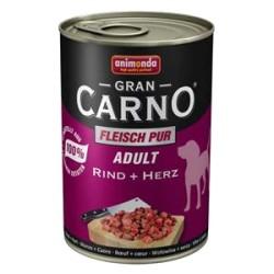 Animonda - Animonda Gran Carno Sığır Etli ve Yürekli Köpek Konservesi 400 GR