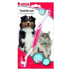 Beaphar - Beaphar Toothbrush Çift Taraflı Köpek Diş Fırçası