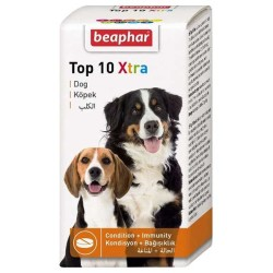 Beaphar - Beaphar Top 10 Xtra Vitamin ve Ek Besin Takviyesi 90 Tablet