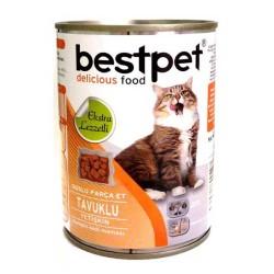 Best Pet - Best Pet Tavuklu Kedi Konservesi 400 GR * 24 ADET