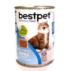 Best Pet - Best Pet Somon Balıklı Kedi Konservesi 400 GR * 24 ADET