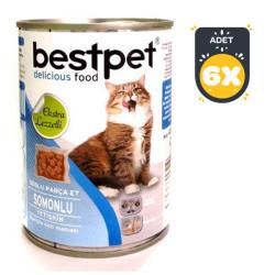 Best Pet - Best Pet Somon Balıklı Kedi Konservesi 400 GR x 6 Adet