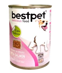Best Pet - Best Pet Somon Balıklı Köpek Konservesi 415 GR * 24 ADET