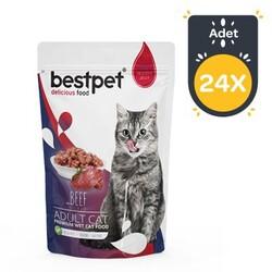 Best Pet - Bestpet Biftekli Jelly Kedi Yaş Maması 85 GR x 24 Adet
