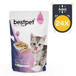 Best Pet - Bestpet Kitten Jelly Tavuklu Yavru Kedi Yaş Maması 85 GR x 24 Adet