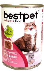 Best Pet - Best Pet Tavşan Etli Kedi Maması 415 GR