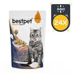 Best Pet - Bestpet Tavuklu Jelly Kedi Yaş Maması 85 GR x 24 Adet
