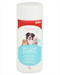 Bioline - Bioline Kedi ve Köpekler İçin Kuru Toz Şampuan 100 GR