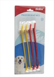 Bioline - Bioline Köpek Diş Fırçası 4'lü Set