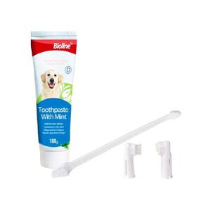 Bioline Nane Aromalı Köpek Ağız Bakım Seti 100 GR - Thumbnail