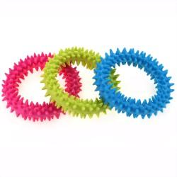 Bobo - Bobo Köpekler İçin Halka Plastik Oyuncak 8.5 Cm