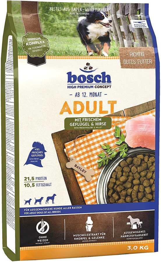 Bosch Glutensiz Tavuklu Köpek Maması 3 KG