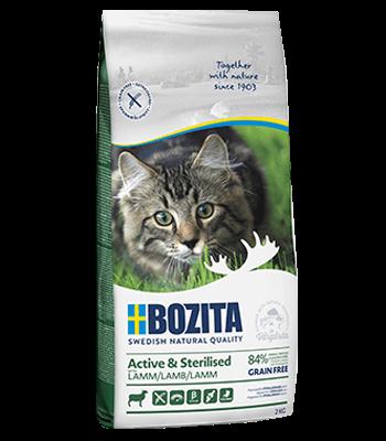 Bozita Active Sterilised Tahılsız Kuzu Etli Kısırlaştırılmış Kedi Maması 2 KG