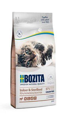 Bozita İndoor Sterilised Tahılsız Geyik Etli Kısırlaştırılmış Kedi Maması 10 KG