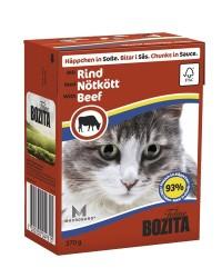Bozita - Bozita Sığır Etli Tetra Paket Kedi Konserve 370 GR