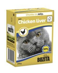 Bozita - Bozita Tavuk Ciğerli Tetra Paket Jelly Kedi Konserve 370 GR
