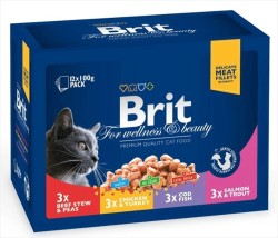 Brit Care - Brit Care Family Karışık Kedi Yaş Maması 1200 GR (12 *100 GR)