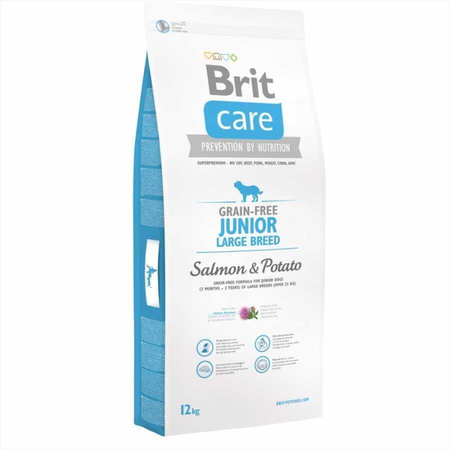 Brit Care Tahılsız Somonlu Büyük Irk Yavru Köpek Maması 12 KG