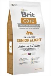 Brit Care - Brit Care Yaşlı Köpekler İçin Tahılsız Somonlu Köpek Maması 12 KG