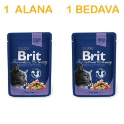 Brit Care - Brit Premium Kediler İçin Morina Balıklı Mama 100 GR ( 1 Alana 1 Bedava )