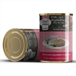 Chefs Choice - Chefs Choice Kıyılmış Balık ve Sebzeli Yaş Kedi Maması 400 GR