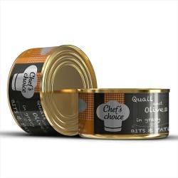 Chefs Choice - Chefs Choice Kıyılmış Bıldırıcın ve Zeytin Ezmeli Tahılsız Kedi Konservesi 85 GR