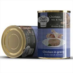 Chefs Choice - Chefs Choice Kıyılmış Tahılsız Tavuklu Kedi Konservesi 400 GR