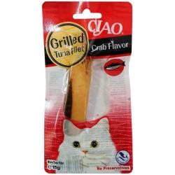 Ciao - Ciao Izgara Tuna Fileto Yengeç Aromalı Kediler İçin Gıda 15 Gr