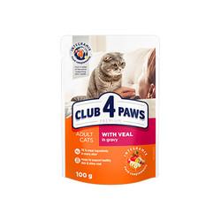 Club4Paws - Club4Paws Dana Etli Premium Pouch Kedi Konserve Maması 100 GR