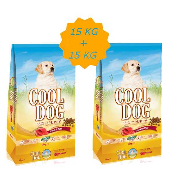 Cool Dog Kuzu Etli Yavru Köpek Maması 15 KG + 15 KG