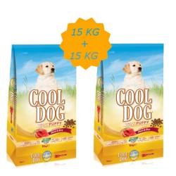 Cool Dog - Cool Dog Kuzu Etli Yavru Köpek Maması 15 KG + 15 KG