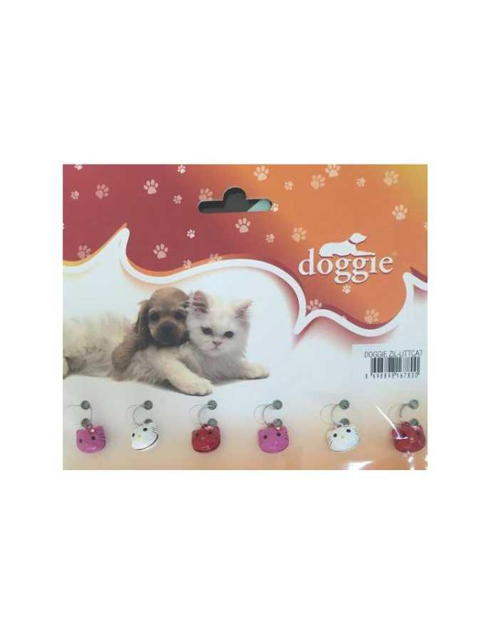 Doggie Kedi&Köpek Zili Küçük Taşlı Kedi Kafası(LİTTCAT)