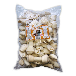 Dr.Sacchi - Dr Sacchi Beyaz Düğümlü Köpek Ödül Kemiği 12.5 CM 50 Li