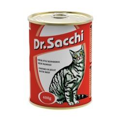 Dr.Sacchi - Dr. Sacchi Sığır Etli Kedi Konservesi 400 GR