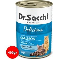 Dr.Sacchi - Dr. Sacchi Somonlu Kedi Konservesi 400 GR