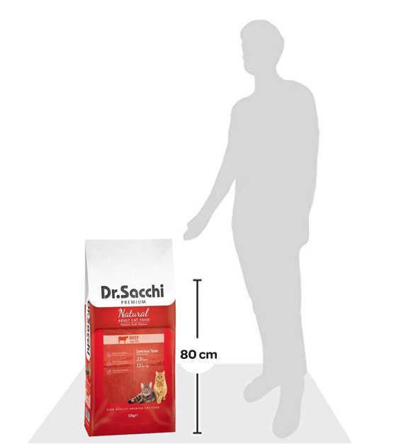 Dr.Sacchi Premium Sensitive Biftekli Kedi Maması 15 KG