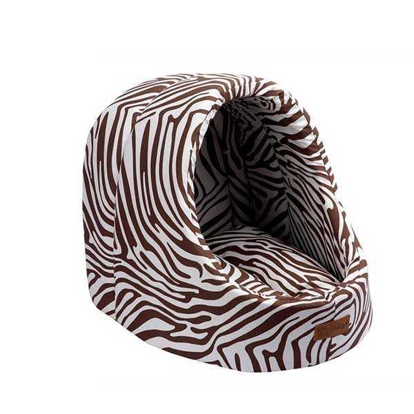 Dubex Mini Cave Kedi Kulübesi Kahverengi Zebra
