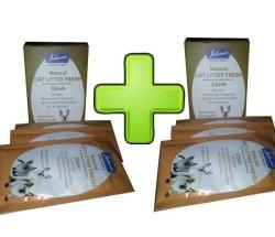 EcoPure - ecoPure Kedi Tuvalet Kapları İçin Koku Giderici 7 Adet+7 Adet
