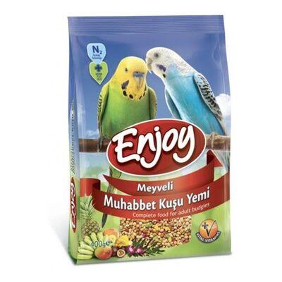 Enjoy Meyveli Muhabbet Kuşu Yemi 400 GR