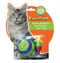 EuroGold - Eurogold İp Kaplı Top & Parlak Fare İkili Oyuncak