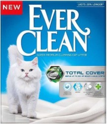 EverClean - Ever Clean Total Cover Uzun Ömürlü Topaklanan Kedi Kumu 6 LT
