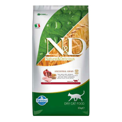 ND Düşük Tahıllı Tavuklu Narlı Kedi Maması 10 KG