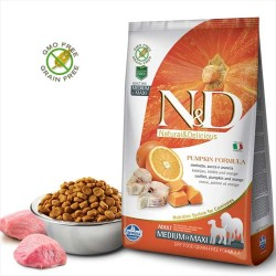 Farmina N&D - Farmina ND Tahılsız Bal Kabağı Balık ve Portakallı Köpek Maması 2.5 KG