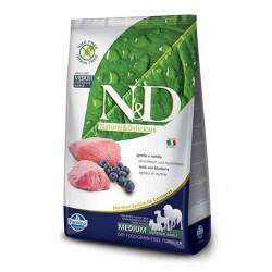 Farmina N&D - ND Tahılsız Kuzulu ve Yaban Mersinli Köpek Maması 12 KG