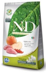 Farmina N&D - ND Tahılsız Yaban Domuzlu ve Elmalı Köpek Maması 7 KG
