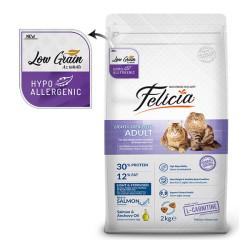 Felicia - Felicia Düşük Tahıllı HypoAllergenic Somonlu Kısırlaştırılmış Kedi Maması 2 KG